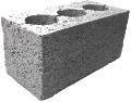 Керамзитобетонные блоки 3-х пустотные